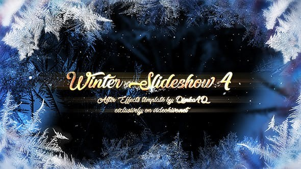 Videohive Winter Slideshow 4 21075135 - After Effects Project Files