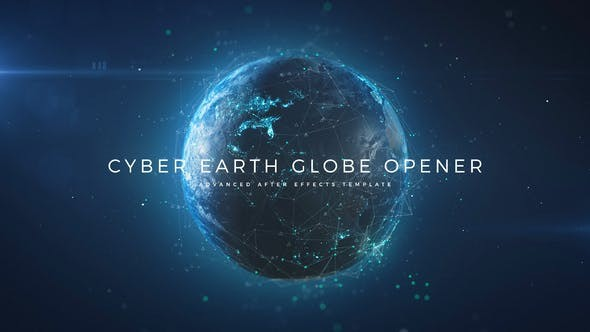 Videohive Cyber Earth Globe Opener 29647647- After Effects Project Files