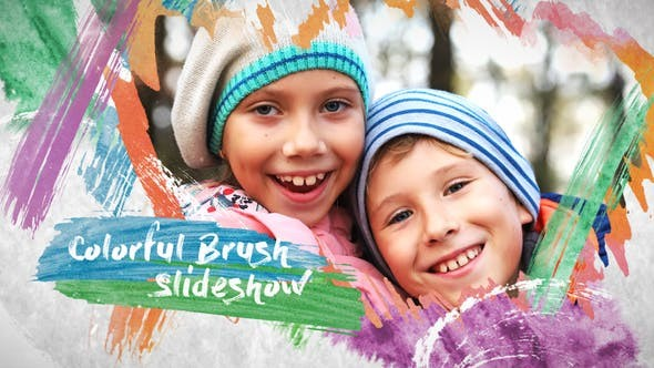 Videohive Colorful Brush Slideshow 23674567 - After Effects Project Files