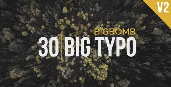 Videohive Big Typo II 20275881 - After Effects Project Files