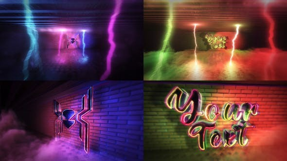 Videohive  Super Neon Logo  29662971 - After Effects Project Files