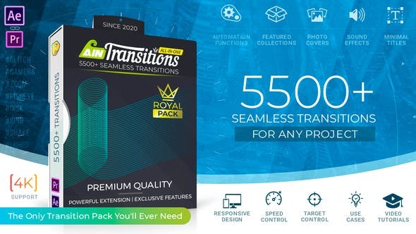 Videohive AinTransitions | Ultimate Multipurpose Transitions Pack V1.0.2 26050211 -  After Effects Project Files