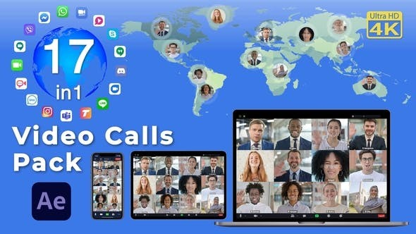 Videohive Video Calls Pack 17 in 1 29709461 - After Effects Project Files