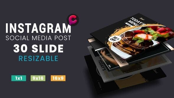 Videohive Media Post Fashion Food 29517881 - After Effects Project Files