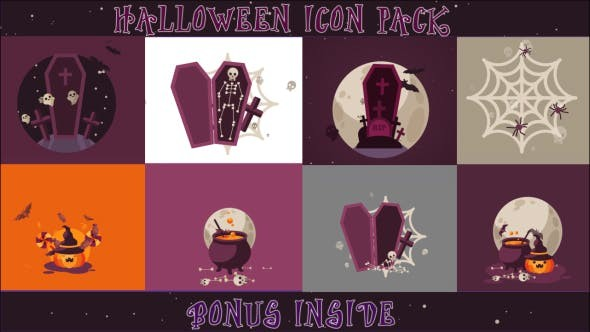 Videohive Halloween Icon Pack 18562046 - After Effects Project Files