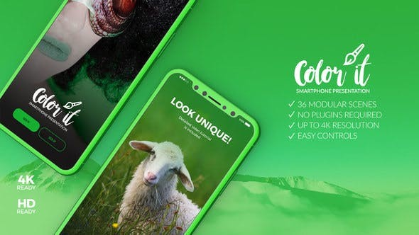 Videohive  Color it - 3D Smartphone Presentation v2 22328414 - After Effects Project Files