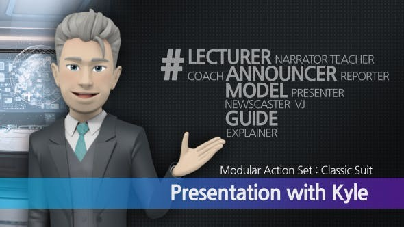 Videohive Presentation With Kyle: Classic Suit 17249554 - After Effects Project Files