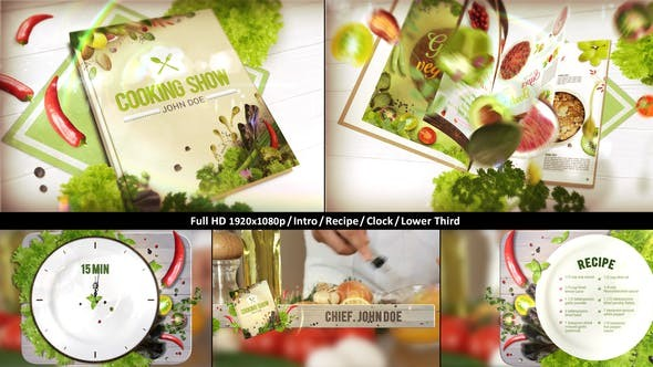 Videohive Cooking TV Show Pack | Journal 22751769 - After Effects Project Files