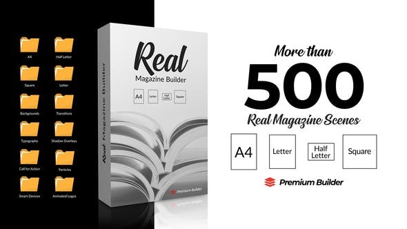 Videohive Real Magazine Builder for Element 3D 29703858 - After Effects Project Files