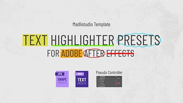 Videohive Text Highlighter Presets 28871094 - After Effects Presets