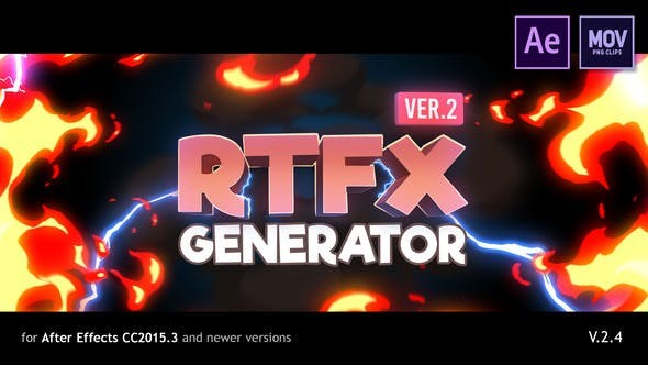 Videohive RFX Generator [1000 FX elements] 19563523 V.2.2 [with Crack Monter] - After Effects Project Files