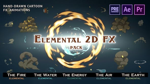 Videohive RTFX Elemental 2D FX Pack 9673890 [Crk] - Motion Graphics