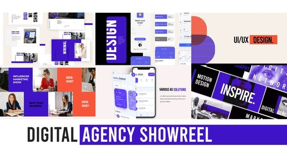 Videohive Digital Agency Web Showreel 29506116  - After Effects Project Files