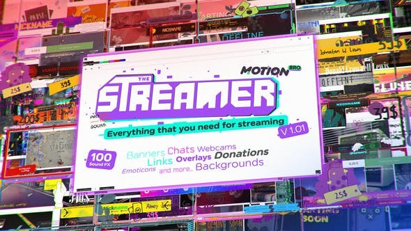 Videohive The Streamer | Everything for Web Twitch Youtube Live 29436832  - After Effects Project Files