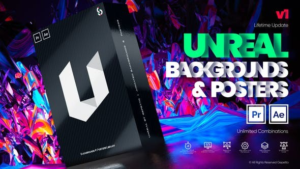 Videohive Unreal I Backgrounds and Posters 29538969  - After Effects Project Files