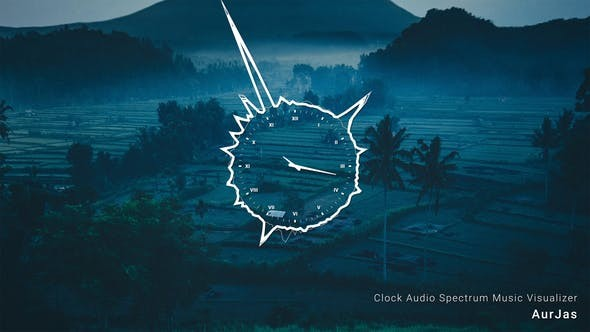 Videohive Clock Audio Spectrum Music Visualizer 31028201 - After Effects Project Files