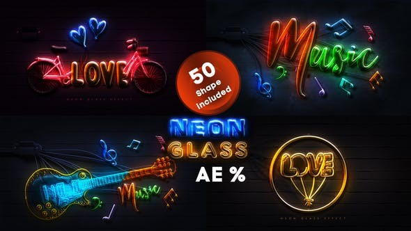 Videohive Neon Glass 28123503 - After Effects Project Files