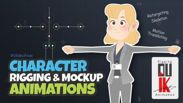 Videohive Character Rigging Mock Up Animations 30582147  - After Effects Project Files