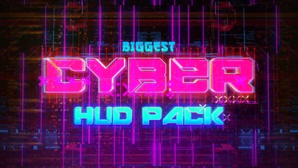 Videohive Biggest CYBER HUD Pack 30635723  - After Effects Project Files