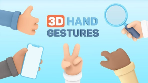 Videohive 3D Hand Gestures | Mockup Device 30620317 - After Effects Project Files