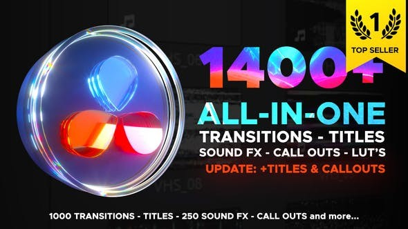 Videohive Transitions Library for DaVinci Resolve 29483279 - DaVinci Resolve Templates