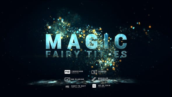 Videohive Magic | Fairy Particles Titles 30613652 - After Effects Project Files