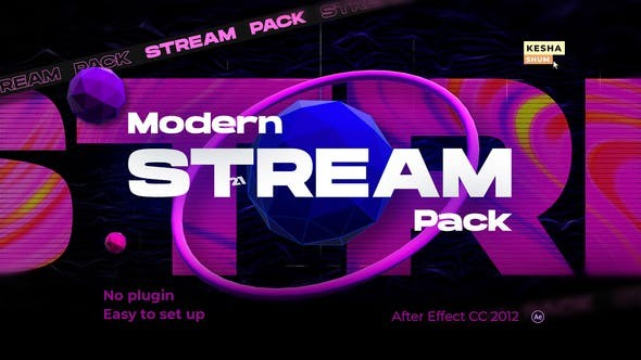 Videohive Modern stream pack 30504728 - After Effects Project Files
