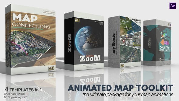 Videohive Animated Map Toolkit 30616266 - After Effects Project Files