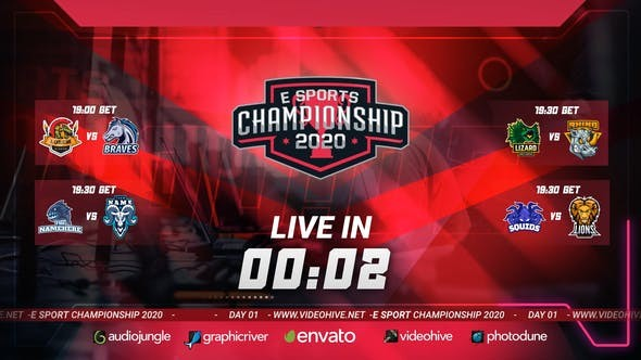 Videohive Esport Broadcast Package 30275809 - After Effects Project Files