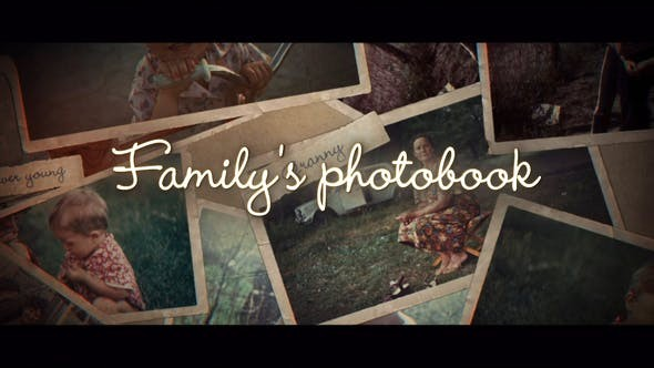 Videohive Family's Photo Book 31092502 - After Effects Project Files
