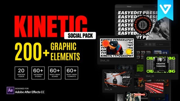 Videohive Kinetic Social Pack 27596918 - After Effects Project Files