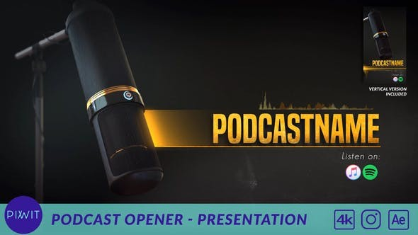 Videohive Podcast Opener - Presentation 31104537 - After Effects Project Files