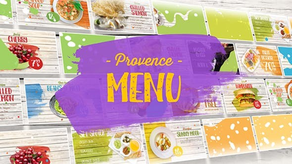 Videohive Provence Menu 21466284 - After Effects Project Files