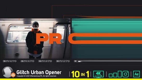 Videohive Glitch Urban Opener V2 30126846 - After Effects Project Files