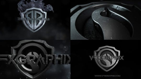 Videohive Dark Shield Logo 30898634 - After Effects Project Files