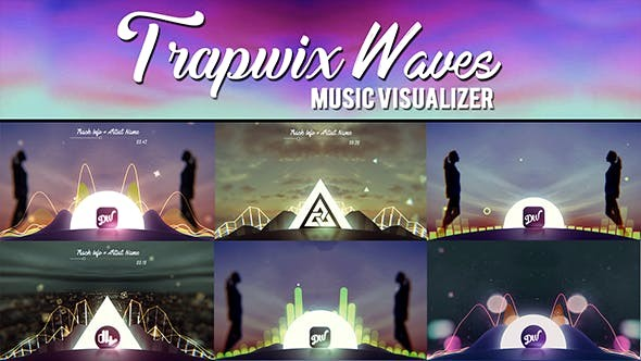 Videohive TrapWix Waves Music Visualizer 21461063 - After Effects Project Files