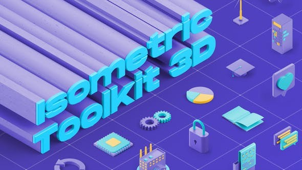 Videohive Isometric Toolkit 3D 29737190 - After Effects Project Files