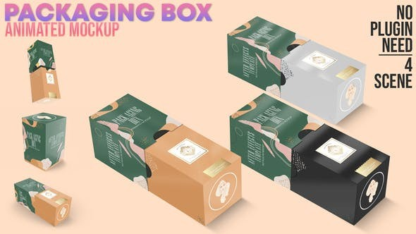 Videohive Packaging Box Animated Mockup 30950514 - After Effects Project Files