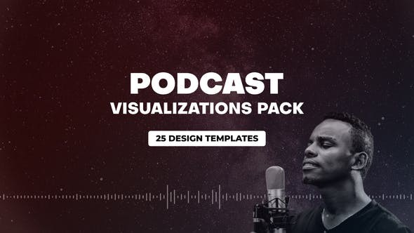 Videohive Podcast Audio Visualization Pack 31013297 - After Effects Project Files