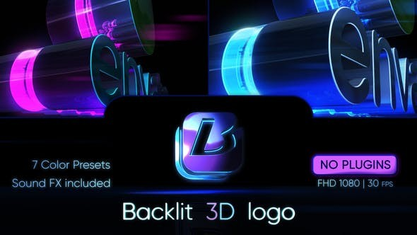 Videohive Backlit 3D Logo 30902997 - After Effects Project Files