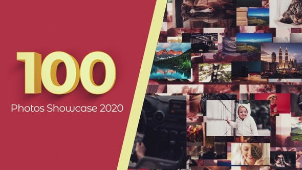 Videohive 100 Photos Showcase Intro 29886638 - After Effects Project Files