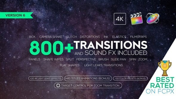 Videohive Transitions and Sound FX + Bonus 21589524