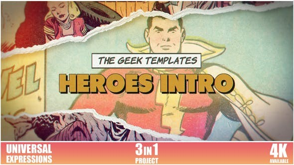 Videohive Heroes Intro 31041329 - After Effects Project Files
