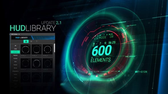 Videohive HUD Library V2.1 21100353 - After Effects Project Files