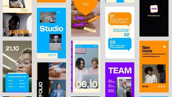 Videohive Instagram Crypto Stories 31886879 - After Effects Project Files
