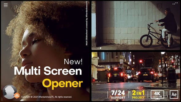 Videohive Multi Screen Opener 31144549 - After Effects Project Files