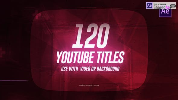 Videohive - Youtube Titles - 23400979 - After Effect Project Files