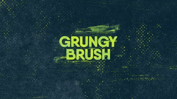 Videohive - Grunge Brush Logo - 23774581 - After Effect Project Files