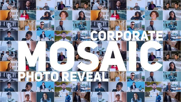 Mosaic Photo Reveal | Corporate Logo 30636914 - After Effects Project Files