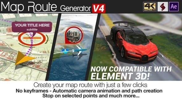 Map Route Generator V4 21686169 - After Effects Project Files